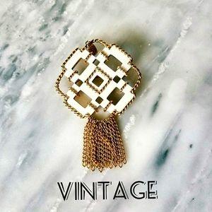 2/$50 Vintage Avon Pendant Pin White Gold